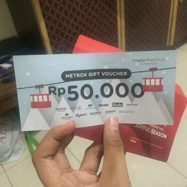 Metrox gift voucher
