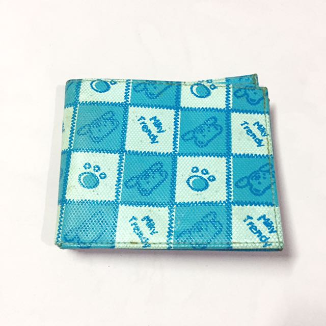 Milky blue teddy wallet
