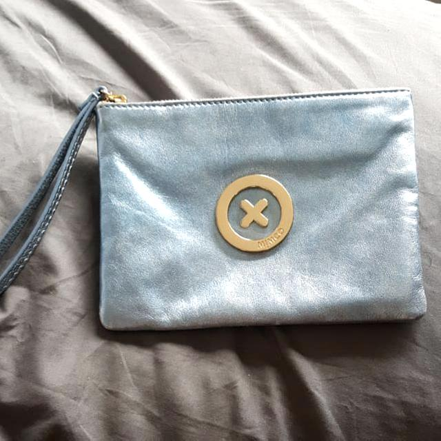 Mimco Icy Blue Supernatural Medium Pouch