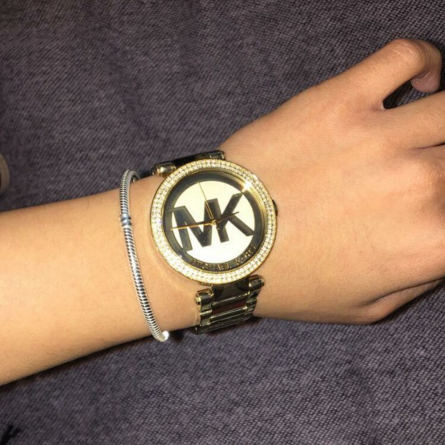 MK micheal kors gold wrist watch