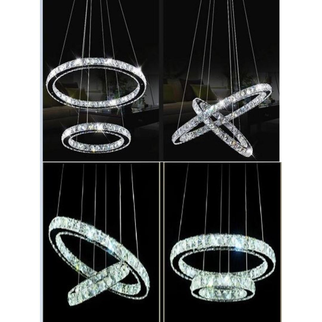 Modern design three tones crystal LED light