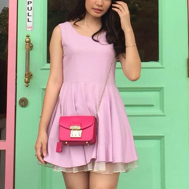 Moist purple dress
