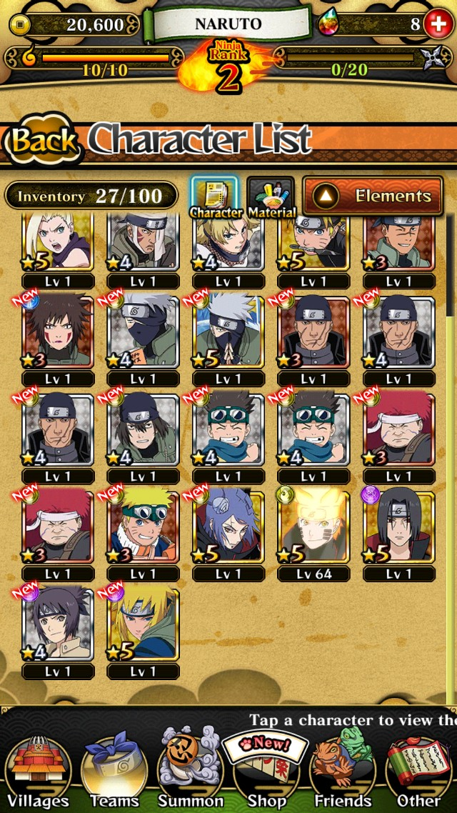 Naruto blazing account with 8 gems on Carousell