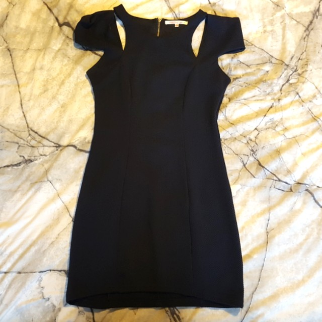 Navy Blue Dress with cut outs