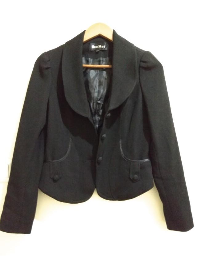 3711a9ec51f9 Neu mor black blazer, Women s Fashion, Women s Clothes on Carousell