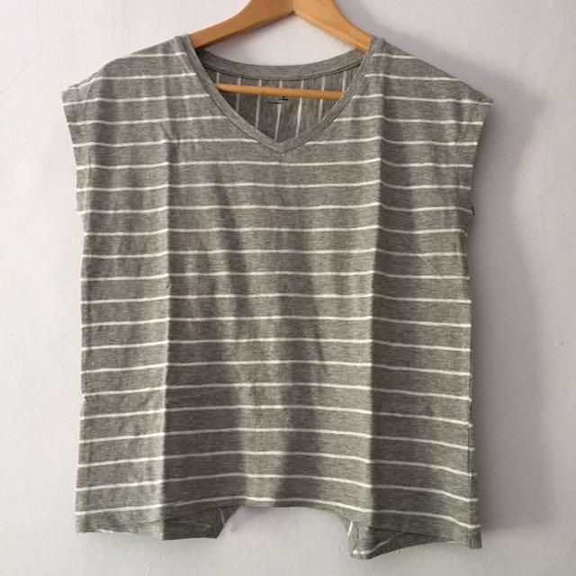 (New) Asymetrical Grey T-Shirt
