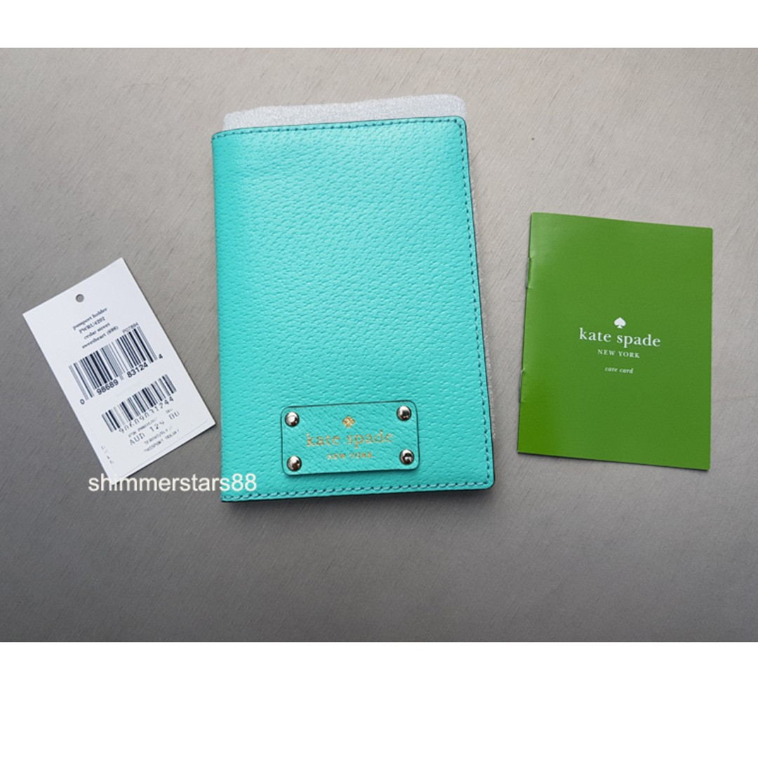 New!Kate Spade Passport Holder Wallet Authentic