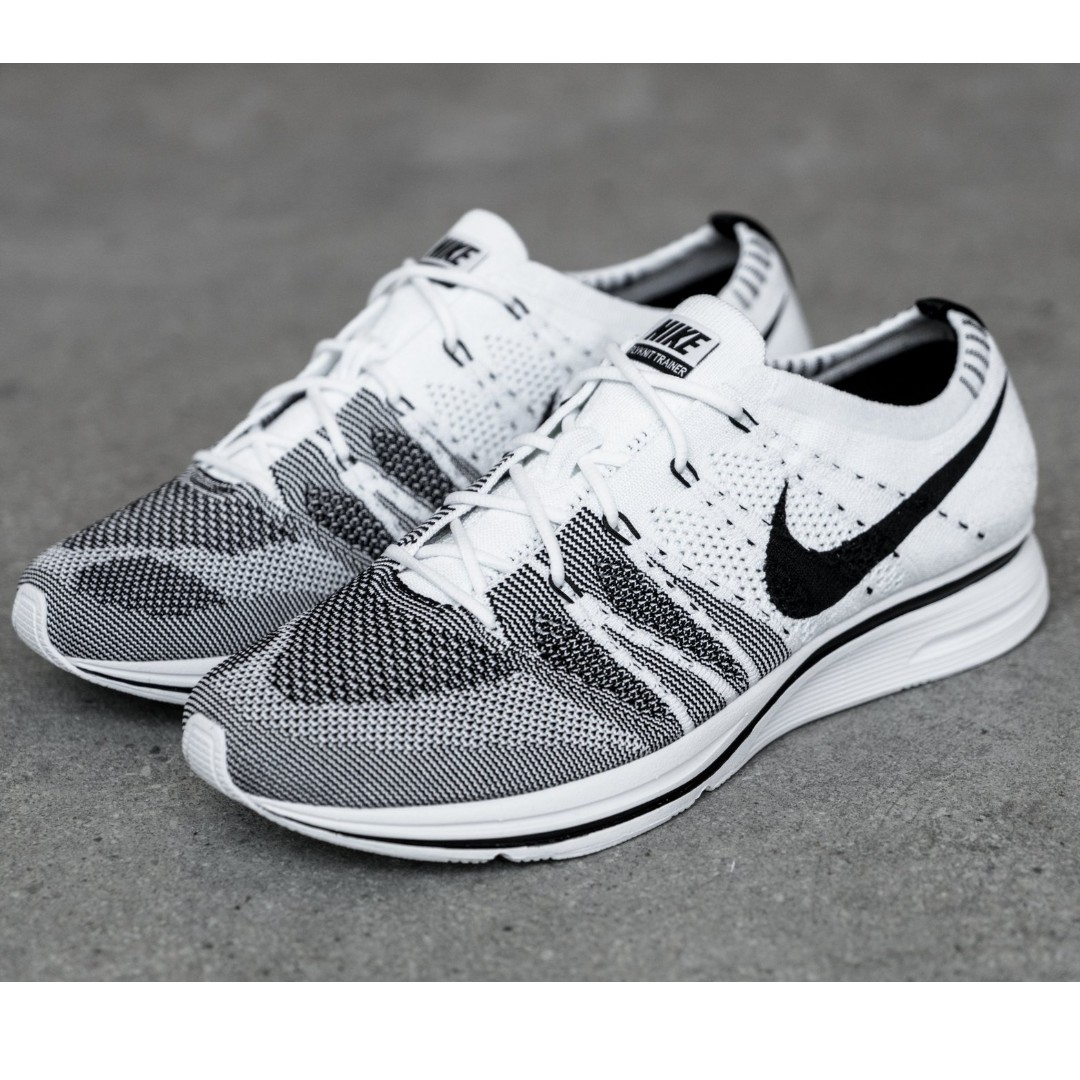 fe7a6e1ab05 Nike Flyknit Trainer Black White Oreo Yeknit
