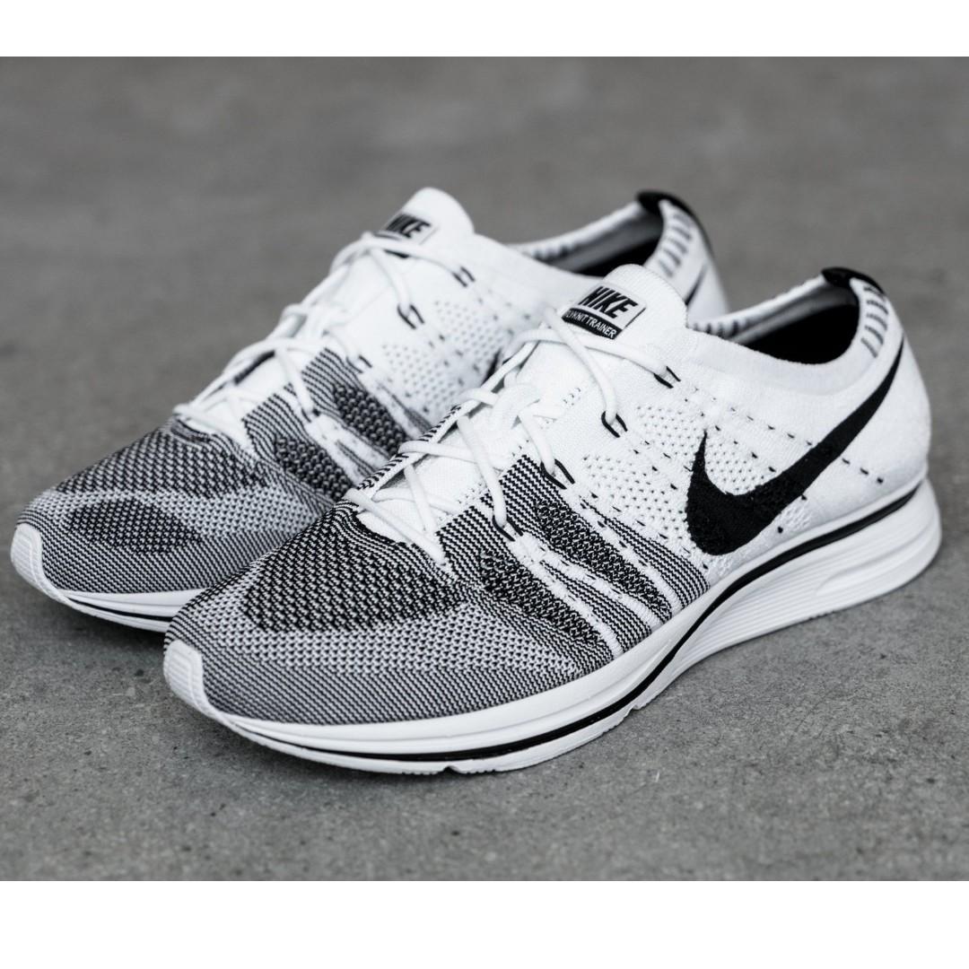 ad65295e2ffaa Nike Flyknit Trainer Black White Oreo Yeknit