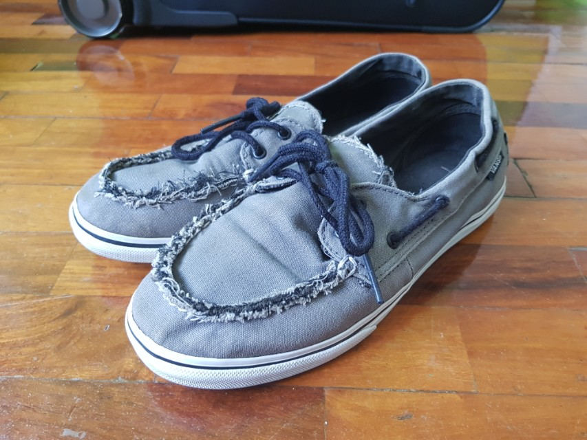 Original Vans Zapato Del Barco Gray 4af9618b3e