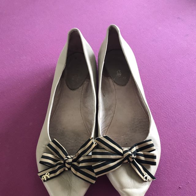Pazzion Pointy Shoe In Nude Color