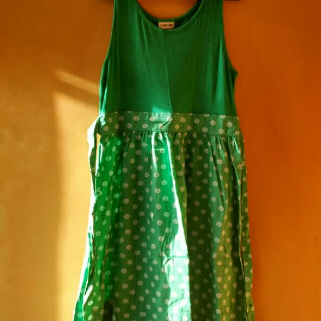 Polka Green Dress