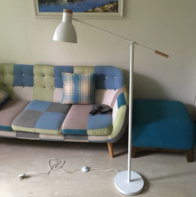 Reading Floor Lamp White Birch