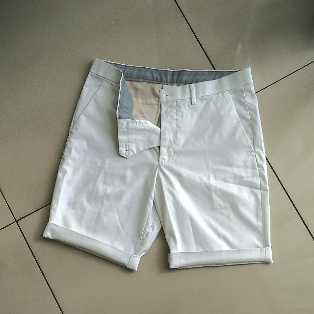 Shorts Chino White Size 31-32