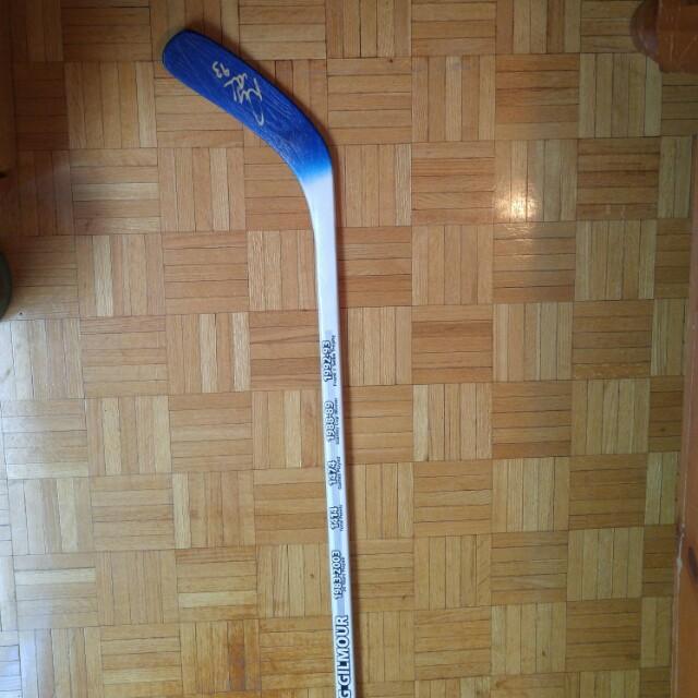 "Signed 62"" hockey stick (doug gilmore)"