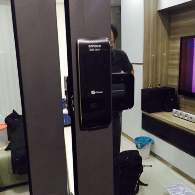 Digital Sliding Glass Door Lock: Sliding Door Digital Lock With Installation, Electronics