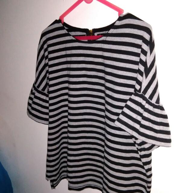 Stripes bell shirt