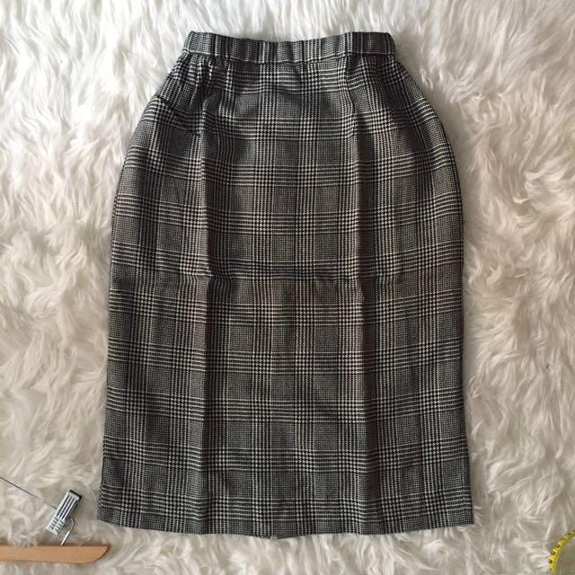 Tartan office skirt - rok kerja
