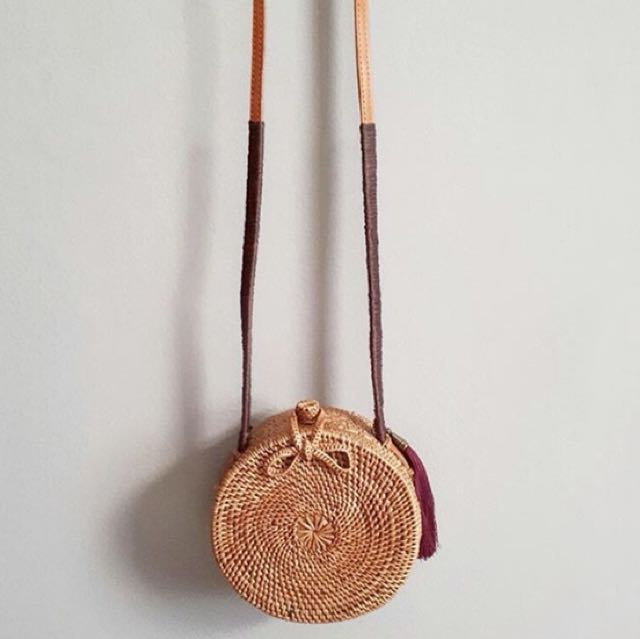 Tas Rotan (Rattan Bag) 15 cm with Tassel