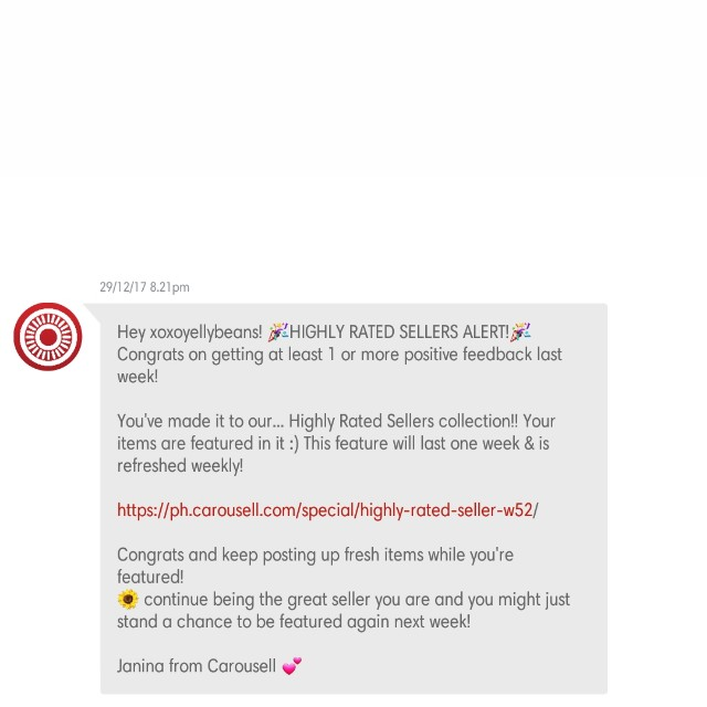 Thank you, Carousell ❤