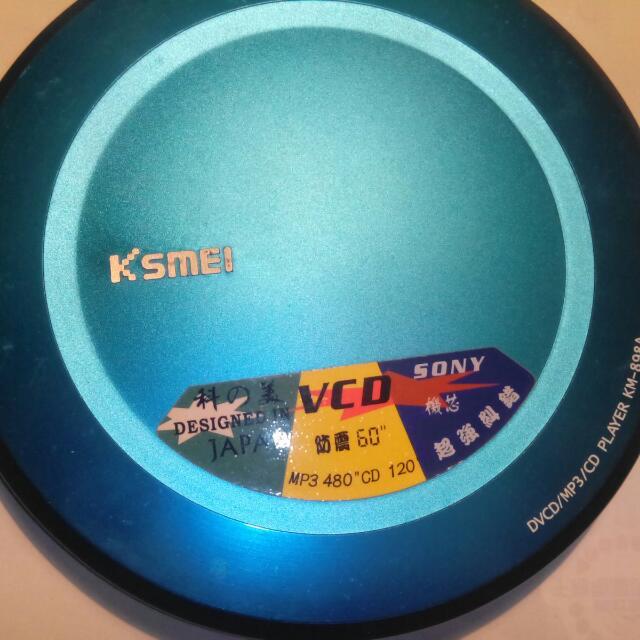 科之美VCD隨身聽,CD隨身聽,CD播放器,CD player,VCD隨身聽~科之美VCD隨身聽(採用SONY原廠機芯,鋁合金面殼,功能正常,原封包裝有盒子)