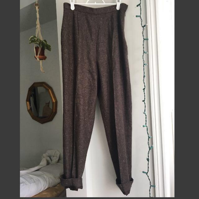Vintage Wool high waist trousers (28-29)