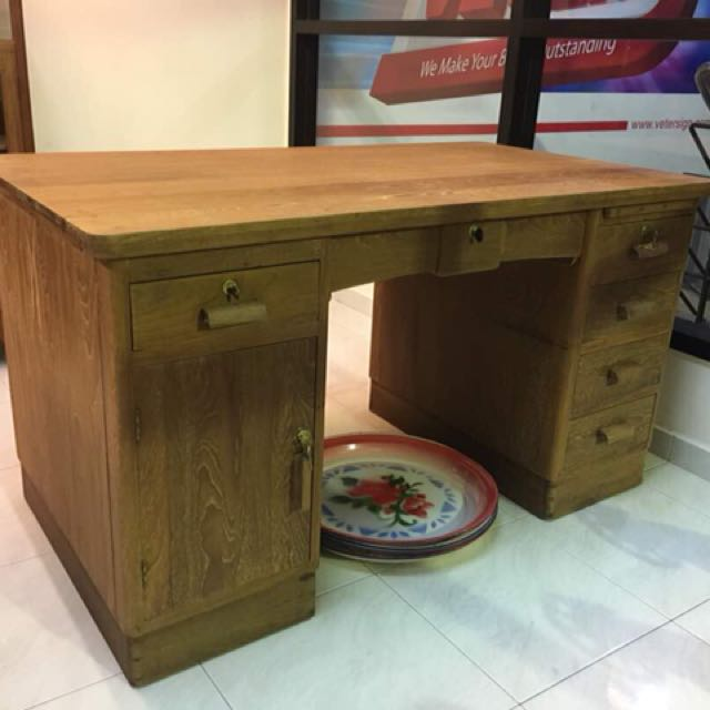 Vintage Writing Desk Burma Teakwood Furniture Home Decor Antiques On Carou