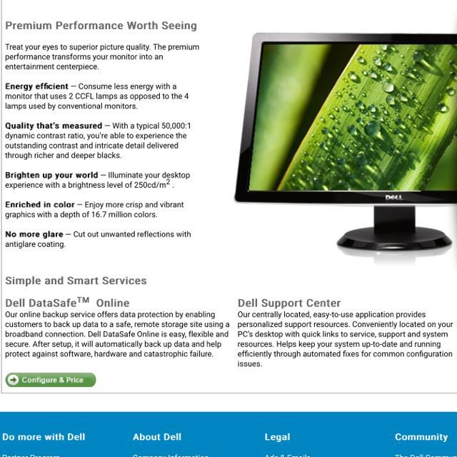 """Working Dell 24"""" Monitor (Model ST2401), Electronics"""