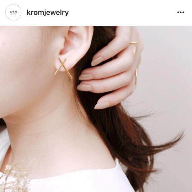 X earrings - Krom