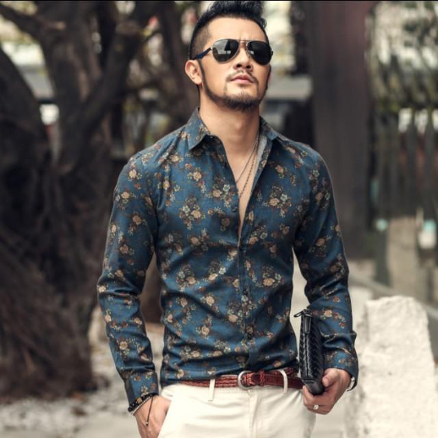 Zara inspired men 39 s floral shirt men 39 s fashion clothes for Zara mens floral shirt