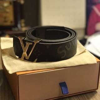 Authentic LV X Supreme belt
