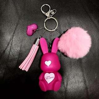 Rabbit Bag Charm (Dark Pink)