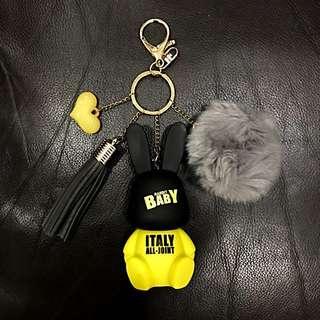 Rabbit Bag Charm (Yellow/Black)