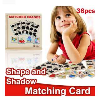 👍🏻 SHAPE AND SHADOW MATCHING CARD