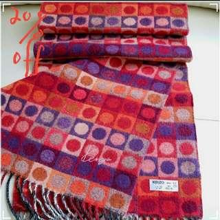 (Sale! $495)Kenzo Vintage Scarf 頸巾 圍巾