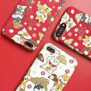 CNY Lucky Dog Phone Case For iPhone 6/7/8/X