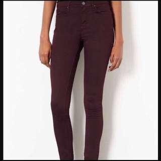 NEW topshop burgundy jeans