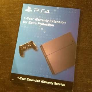PS4 1 Year Extended Warranty Service