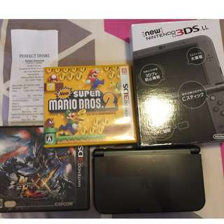3DSLL 連 MHXX +Super Mario Bros 2