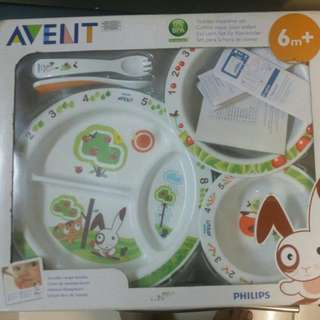 Plate and bowl set brand avent