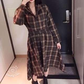 🚚 1/5韓國結單【仙氣😍質感羊毛長洋裝】