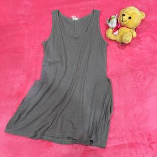 One Piece Brown Sleeveless Dress 背心连衣裙