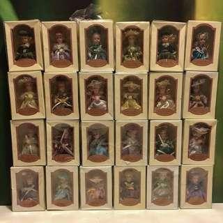 Christmas Gift Idea Tree Ornaments Clay Dolls Sets