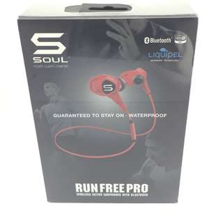 Soul Run Free Pro Bluetooth Wireless Earphones (Red)  運動型無線藍牙耳機 (紅色)***NEW 全新***