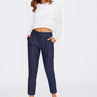 Romwe Striped Pants