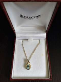 Aquamarine necklace from Pascoes