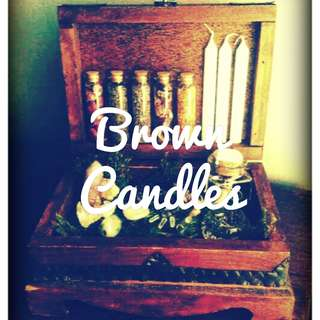 Brown Anointed Candles
