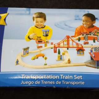70pc Wooden Train Track