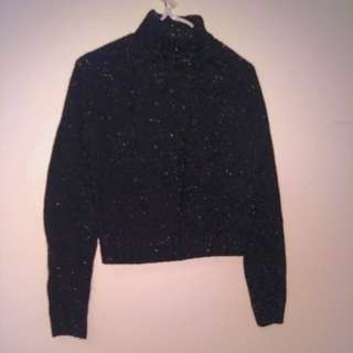 Turtleneck sweater with colour specks