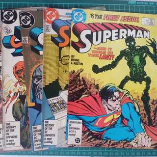 DC Superman issue 1-9 vintage(1986)